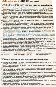 LOE (Llei 2/2006) I LOMCE (Llei 8/2013)
