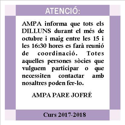 info contacto con AMPA